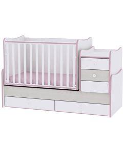 Lorelli Dječji krevetić Maxi Plus - White / Pink crossline