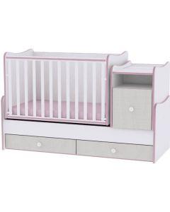 Lorelli Dječji krevetić Trend Plus - White / Pink Crossline