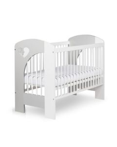 Klups dječji krevetić Nel - 120x60cm - White/Grey