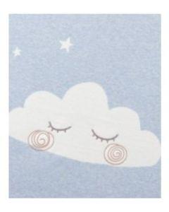 Mamas & Papas pletena dekica Cloud - svijetlo plava