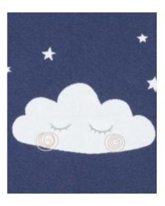 Mamas & Papas pletena dekica Cloud - tamno plava