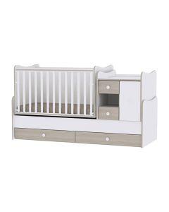 Lorelli Dječji krevetić MiniMax - White/ Amber + GRATIS madrac 120x60cm