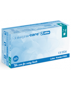 SemperCare® Latex rukavice bez pudera, veličina XS (5-6), 100 kom
