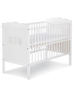 Klups dječji krevetić Nel - 120x60cm - White