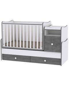 Lorelli Dječji krevetić Trend Plus - White / Vintage Grey